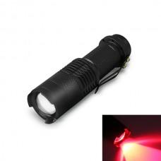 Ficklampa med röd lysdiod